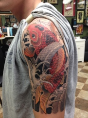 Koi fish 1/2 sleeve in progress