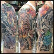 tiger half sleeve