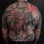 samurai backpiece