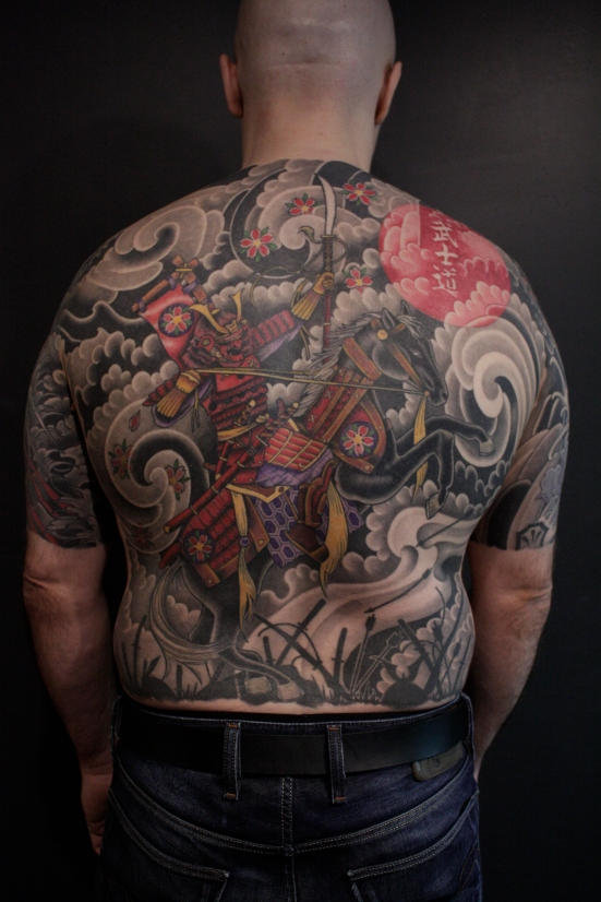samurai backpiece